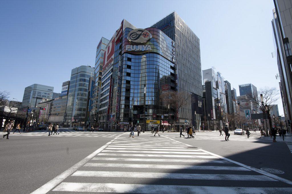 Ginza, un des quartiers de tokyo les plus luxueux