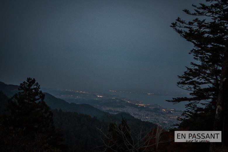 vue lac biwa depuis enryakuji