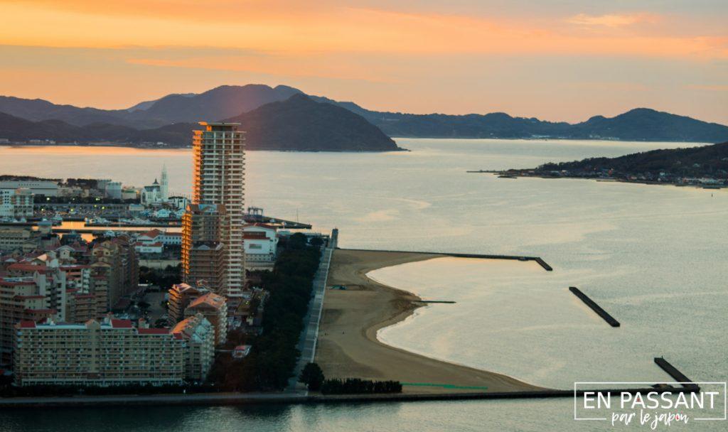 fukuoka tower vue sur la baie