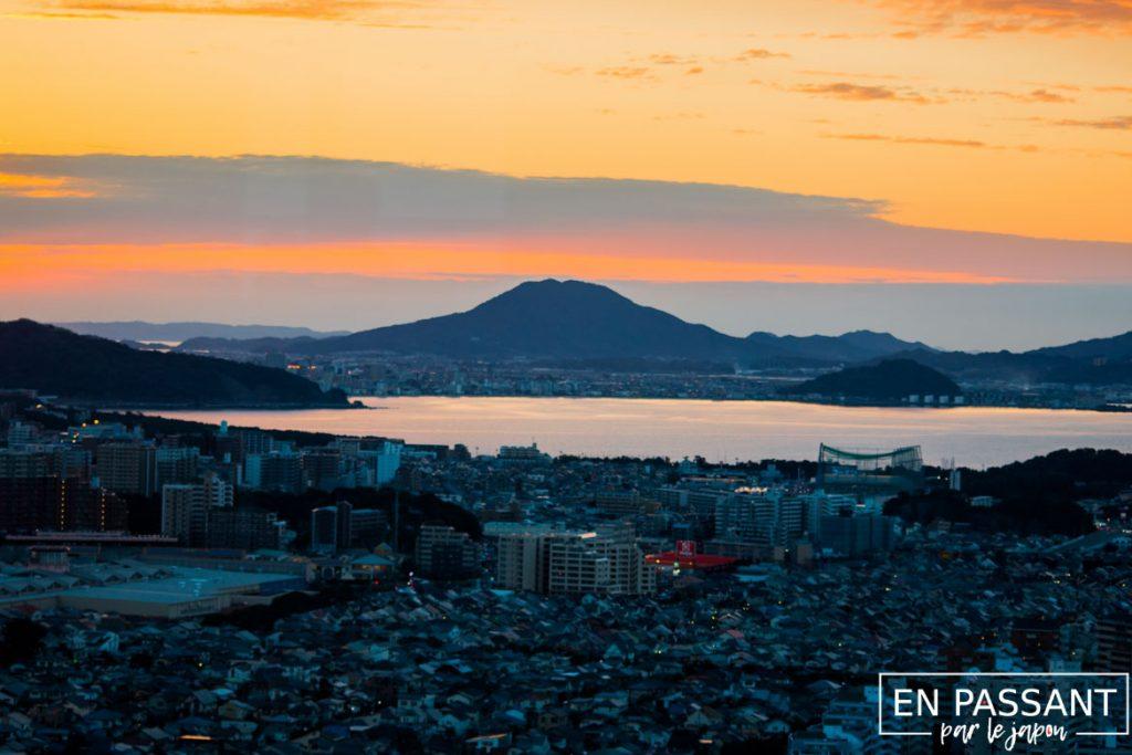 fukuoka tower coucher de soleil