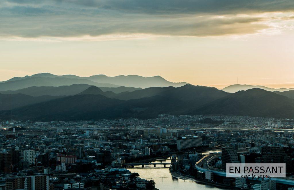 Fukuoka crépuscule