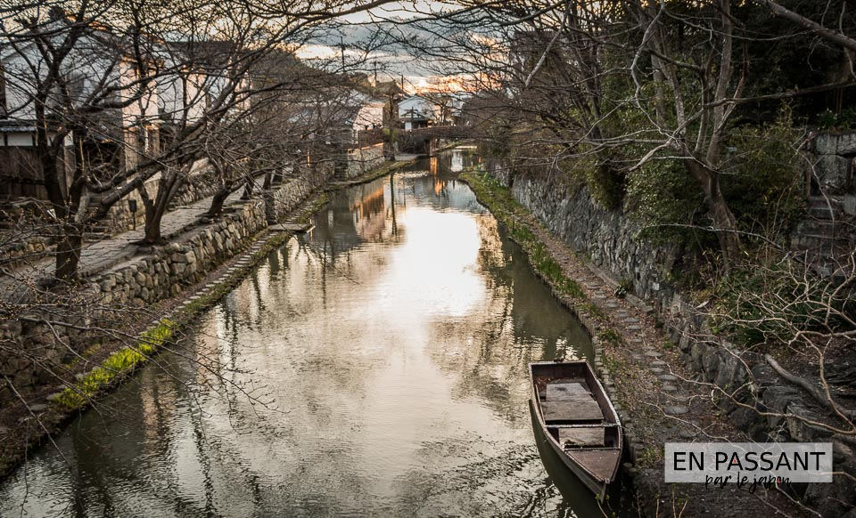 Paysage barque Omihachiman