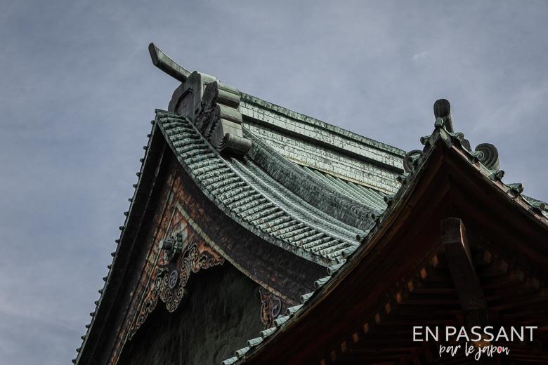 détails toit gokoku-ji