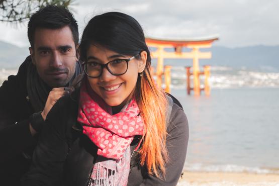 en passant par le japon Matt et Cindy
