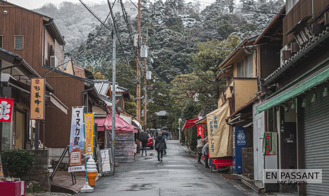 Rues vers le Ginkaku-ji à Higashiyama