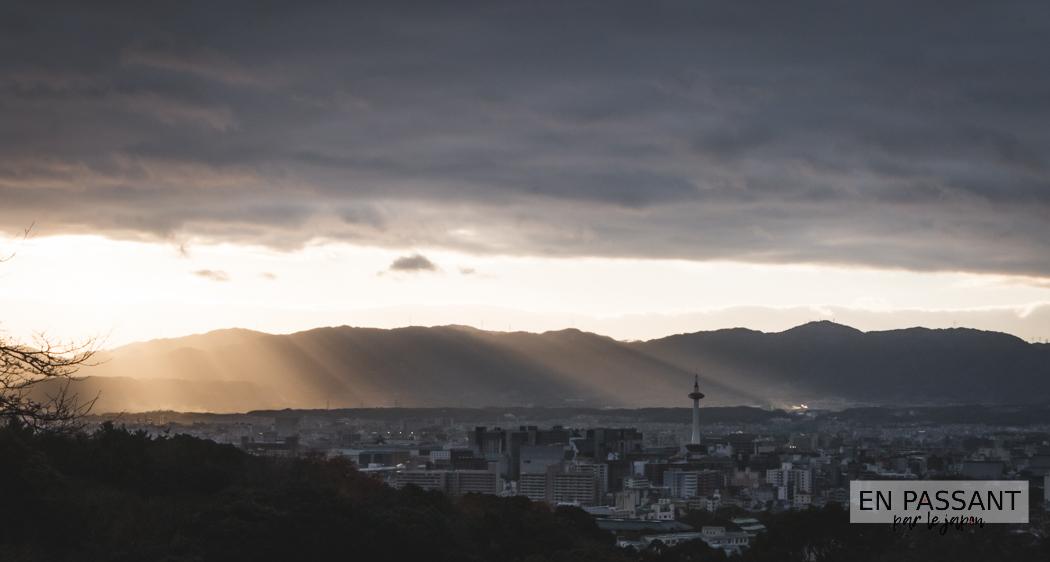 Higashiyama Kyoto coucher de soleil