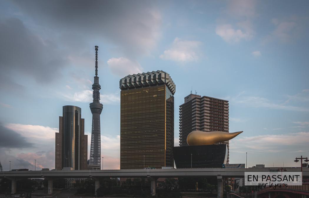 asahi sky room depuis Asakusa